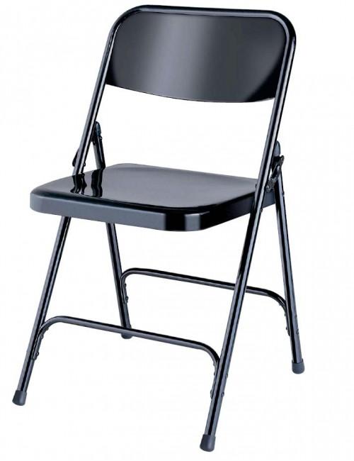 Chaise pliante métallique Alexandra
