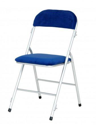 Chaise pliante rembourrée en flanelle Louisa