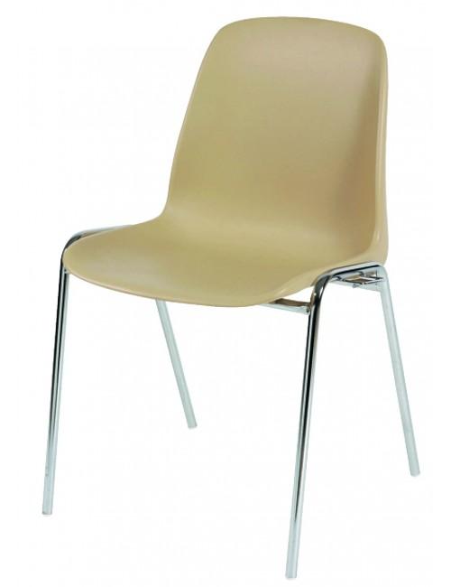 Chaise coque résine Carina pour salle polyvalente