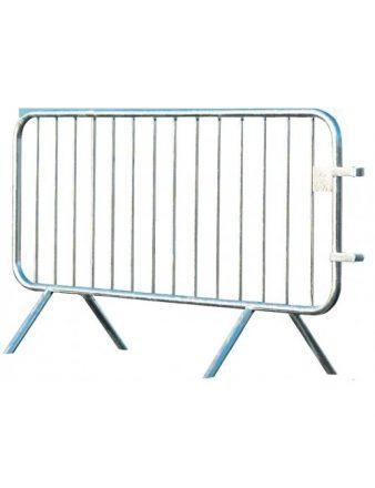 Barrière de police 14 barreaux en acier galvanisé