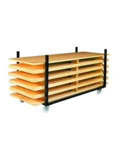 Chariot pour stockage de tables et bancs de brasseries