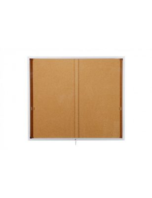 Vitrine simple d'affichage intérieur grand format, avec glace coulissante