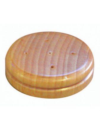 Socle pour drapeaux de table 5 trous en bois vernis