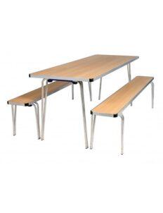 Table pliante légère Castello avec bancs