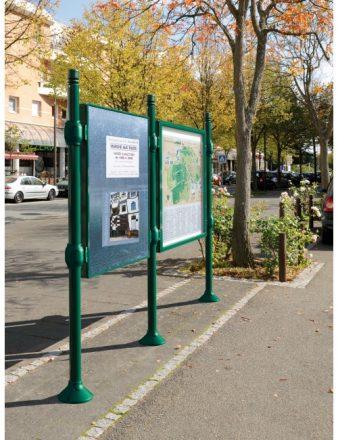 Panneaux d'affichage municipaux en tôle galvanisée