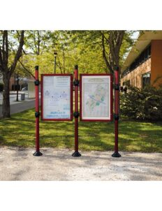 Panneaux d'information vitrine double