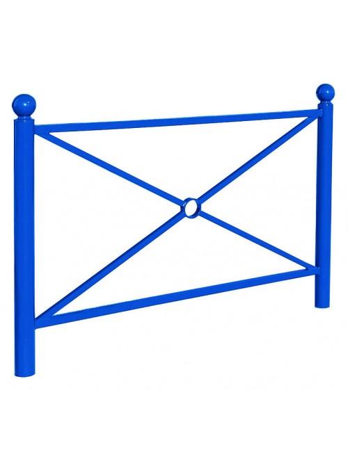 Barrière Cassel bleu en acier
