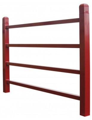 Barrière Conviviale Standard rouge en acier