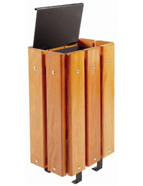 Corbeille Bilbao très robuste en bois