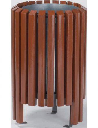 Corbeille Wood grande capacité en bois éxotique