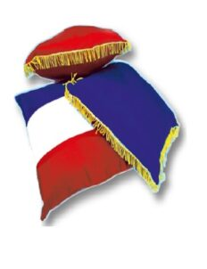 3 Coussins d'inauguration tricolore