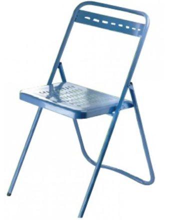 Chaise pliante ultra résistante Metalco