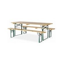 Ensemble table pliante avec bancs pliants