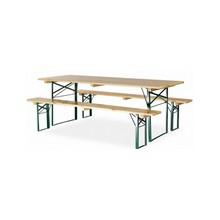 Ensemble table pliante avec bancs pliants