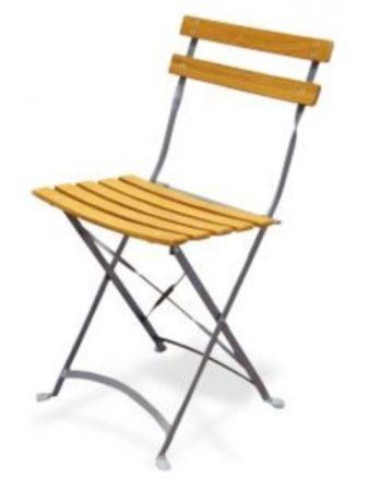 Chaise pliante Lucetta en latte de bois