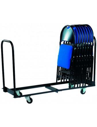 Chariot pour stockage et manutention de chaises pliantes