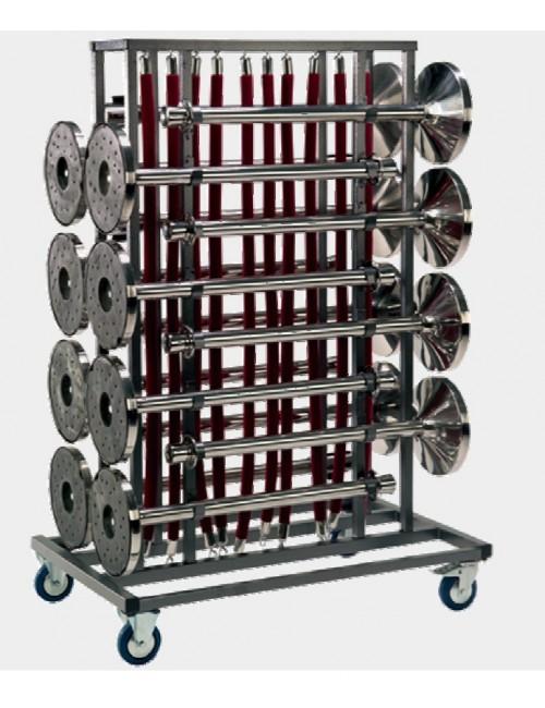 Chariot pour stockage et transport de potelets