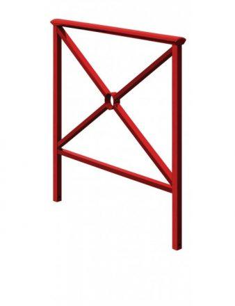 Barrière Hambourg rouge en acier