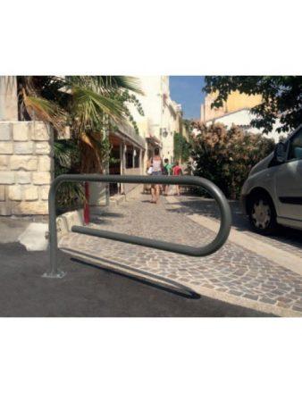 Barrière tournante trombone moderne en ville