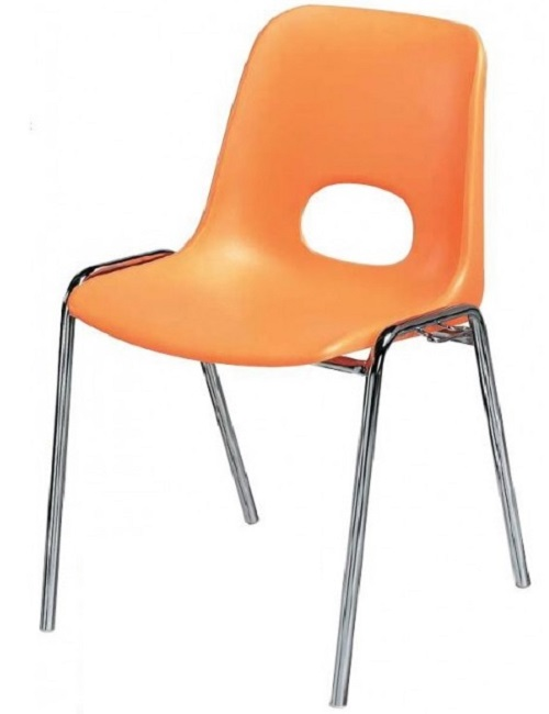Chaise Carina pour salles polyvalentes avec trou rond