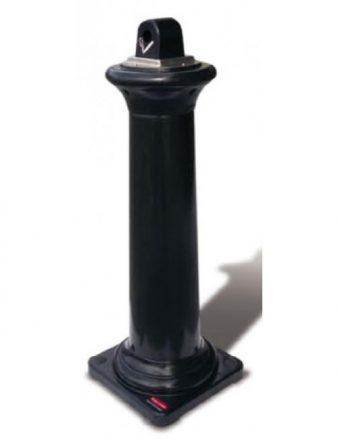 Cendrier Trinidad noir en acier inoxydable