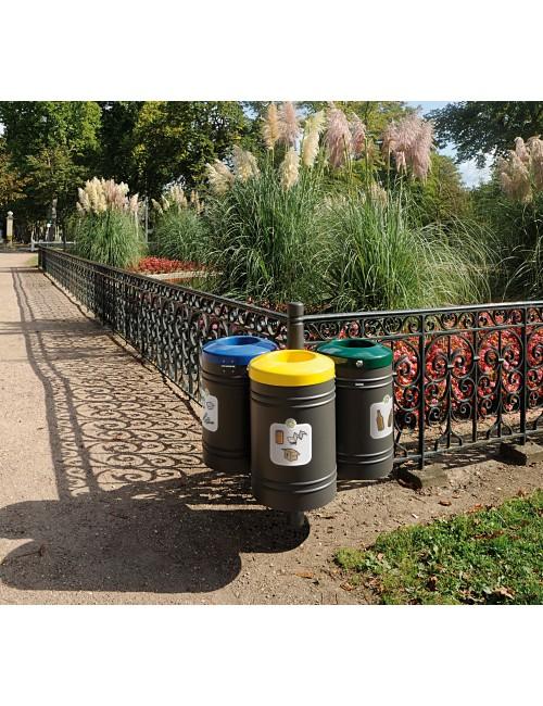 Corbeille Guyenne dans parc pour tri sélectif