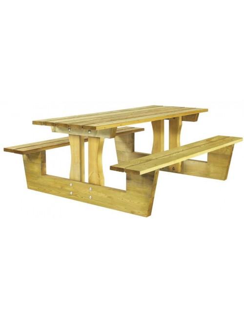 Table Pique-Nique Cube en pin du Nord