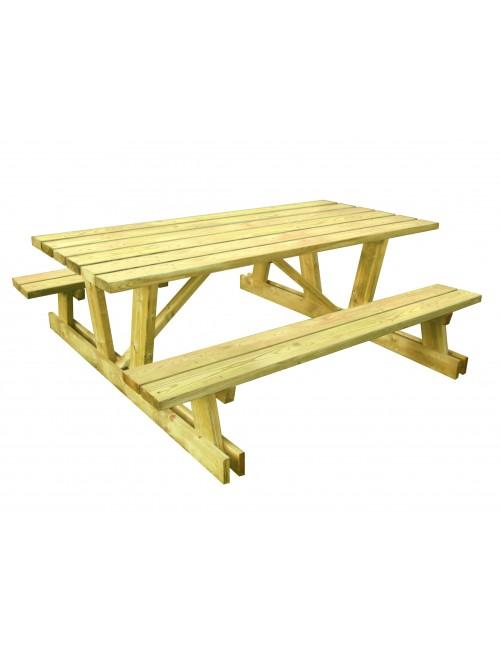Table pique nique Dotmund en bois autoclave résineux