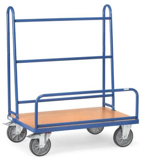 Chariot porte-grilles et panneaux d'expositions bleu