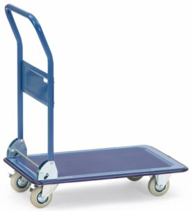 Chariot à plate-forme en tôle avec revêtement antidérapant pliable