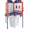 Cabine de vote Votpak avec corbeille sans rideau
