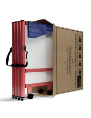 Cabine de vote plier dans un carton