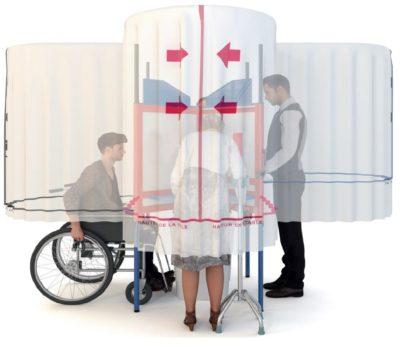 Cabine de vote élection /isoloir