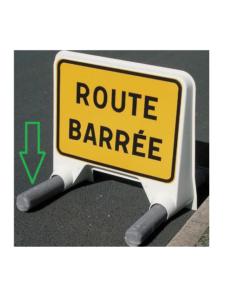 Lest 8kg panneau mobile route barrée