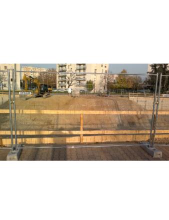 Cloture/Barriere de chantier pour sécuriser des accès