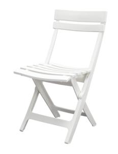 Chaise pliante extérieur peu encombrante Lora Blanche