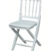 Chaise de réception napoléon pliante blanche