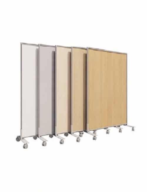 Cloison aluminium amovible pour séparation de bureau