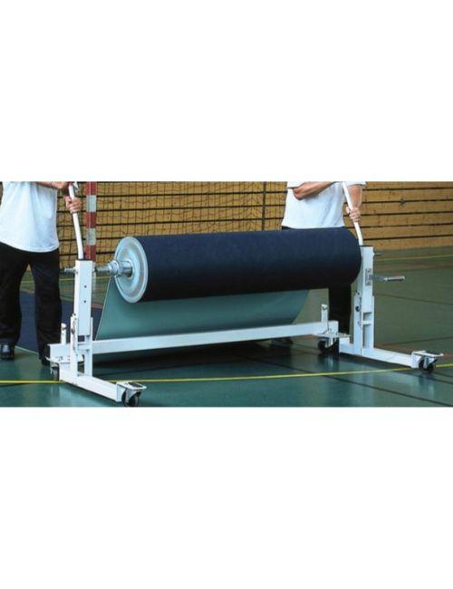 Chariot serveur pour dérouler les rouleaux de PVC