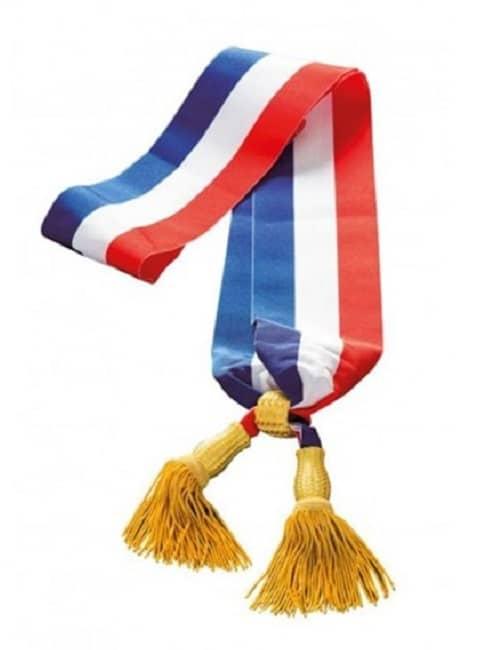 Echarpe tricolore de maire ou adjoint tricolore