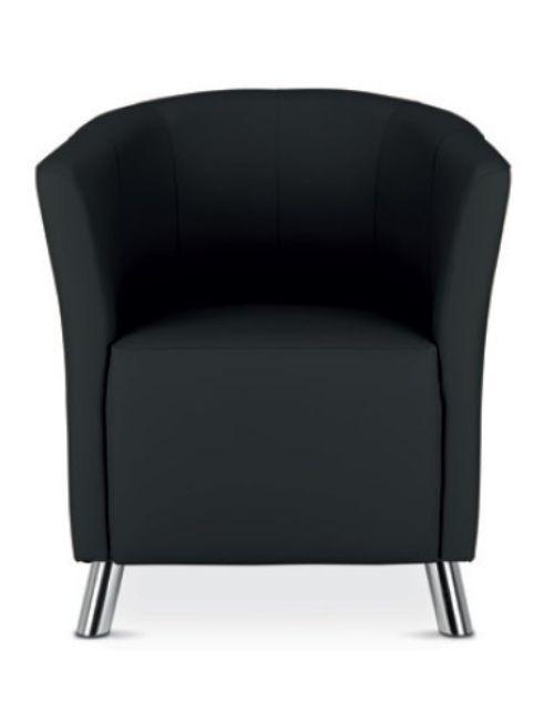 Chauffeuse confortable en similicuir noir