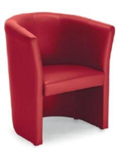 Chauffeuse confortable en similicuir rouge