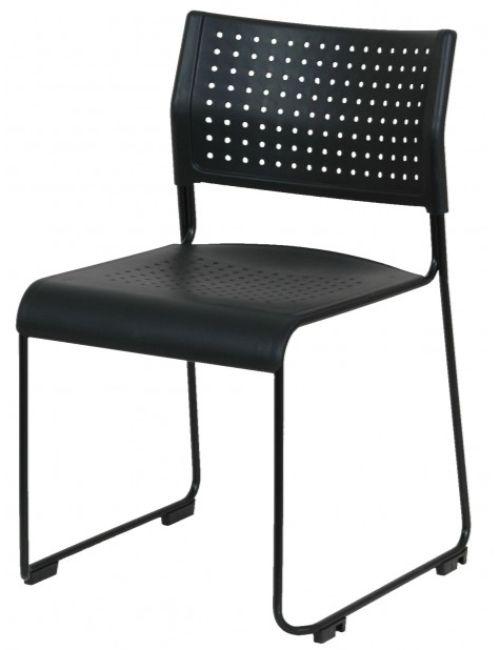 Chaise coque Charline avec pieds traineaux