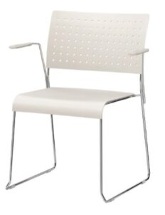 Chaise coque Charline Blanche