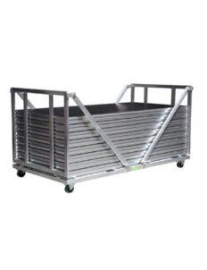 Chariot en aluminium pliant avec praticables
