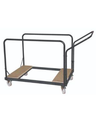Chariot pour table pliante ronde