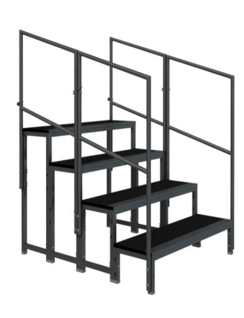 Escalier modulaire pour praticable