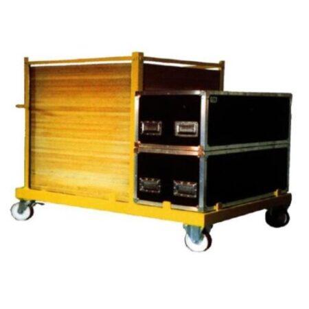 Chariot de stockage avec flight case pour parquet