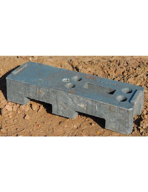 Plot plastique pour barrière de chantier