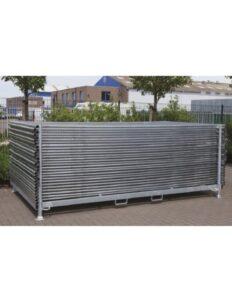 Rack horizontal pour barrières de chantier
